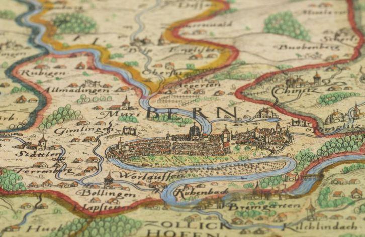 Schöpfkarte  Landesbeschreibung im Alten Bern