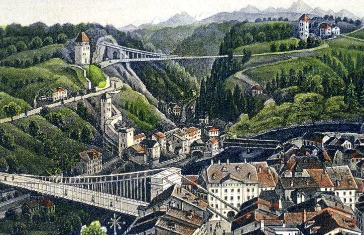 Fribourg in Karten und Ansichten