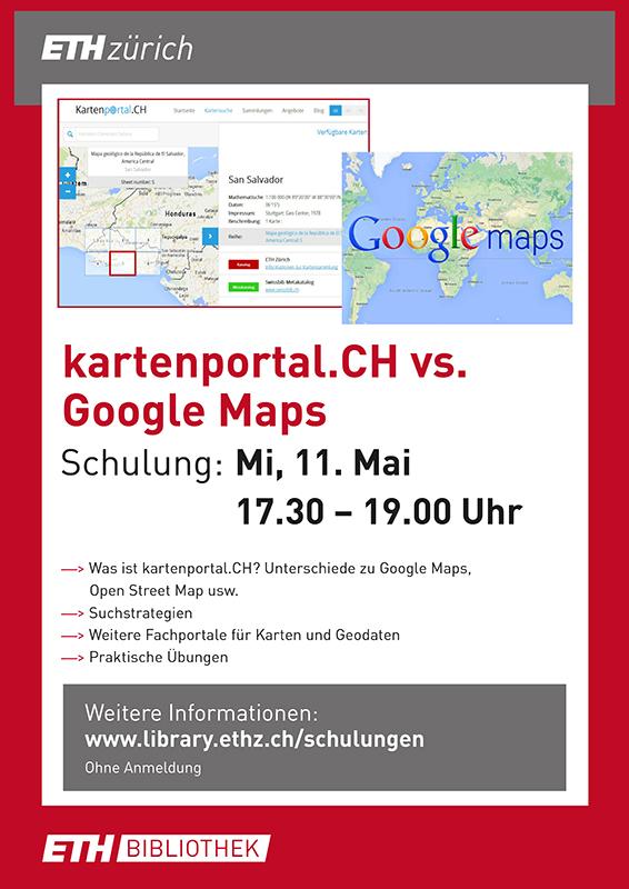 Kartenportal.CH vs. Google Maps